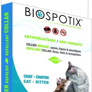 Ogrlica za mačke protiv buha i krpelja BIOSPOTIX 35 cm
